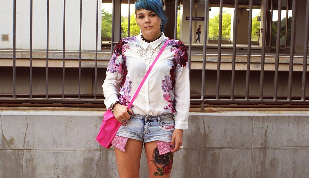 romwe, bluse, tally weijl, bandana, paisley, boohoo, satchel, jelly, jelly schuhe, tattoos, floral, blumen