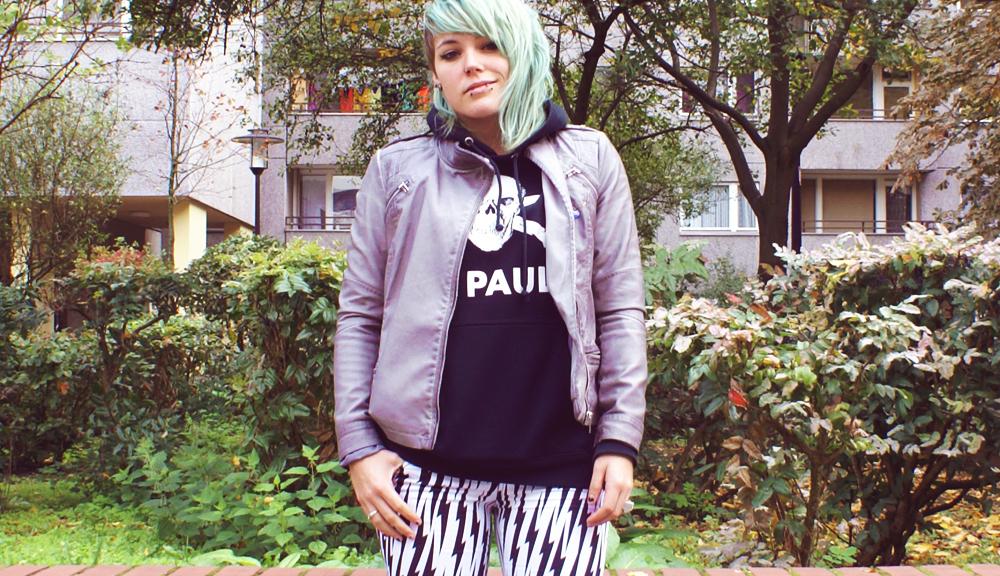 alternative mode outfit blitz blitze tripp nyc lightning converse lederjacke moto jacket grey grau pauli pullover st pauli hamburg hipster
