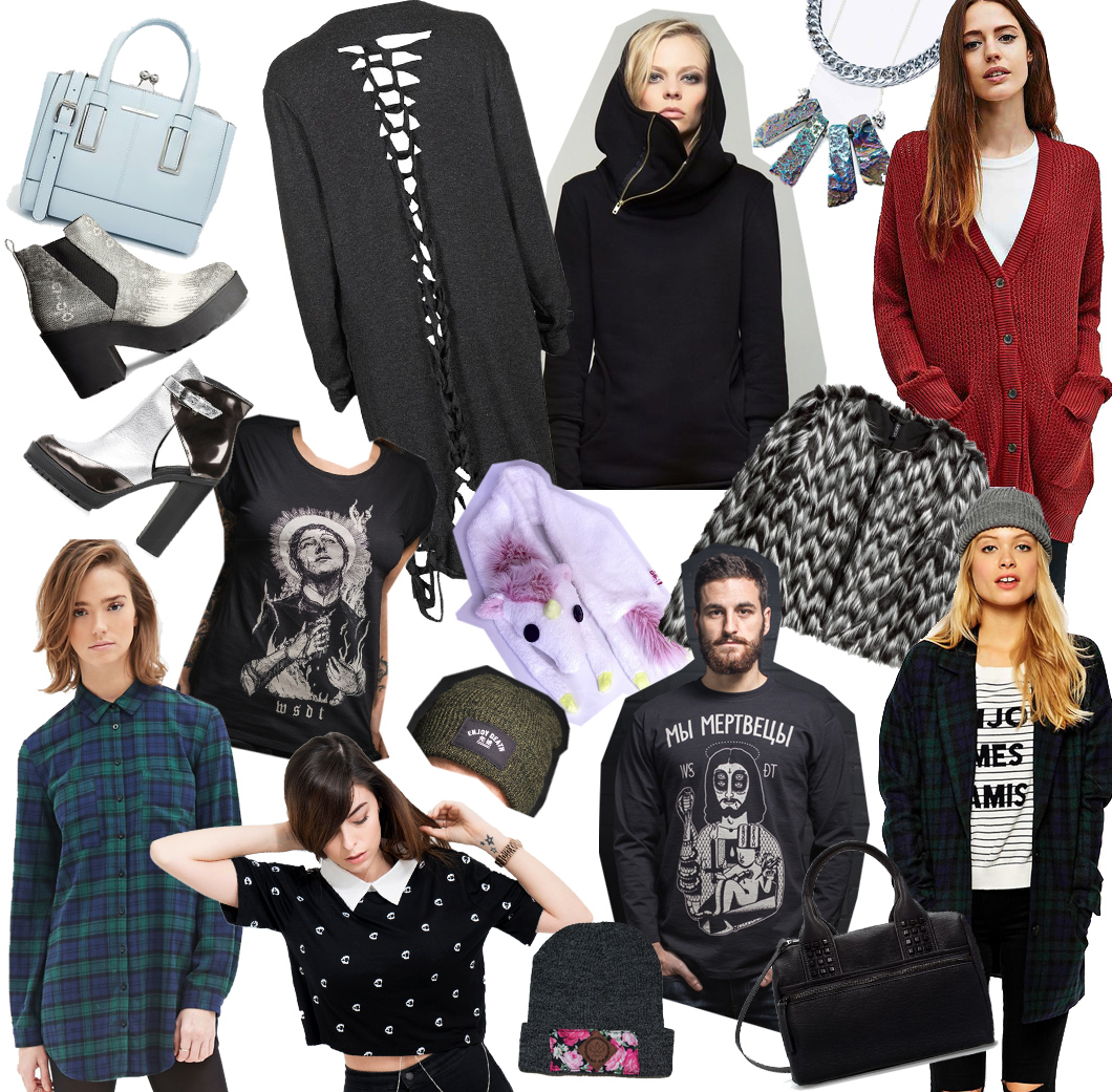 wishlist of the month, wotm, december, dezember, winter, cardigan, strick, knit, urban outfitters, bdg, wsdt, wir sind die toten, kette, jewellery, karo, forever 21, drop dead, taschen, zara, asos, schuhe, heels, h&m, the ragged priest, fake fur, dawanda, beanies, live a life, unicorn,e inhorn, alternative, mode, altfashion, punk, emo
