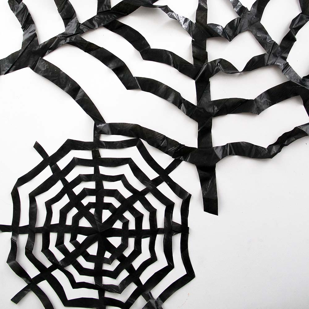 halloween, diy, spinnennetz