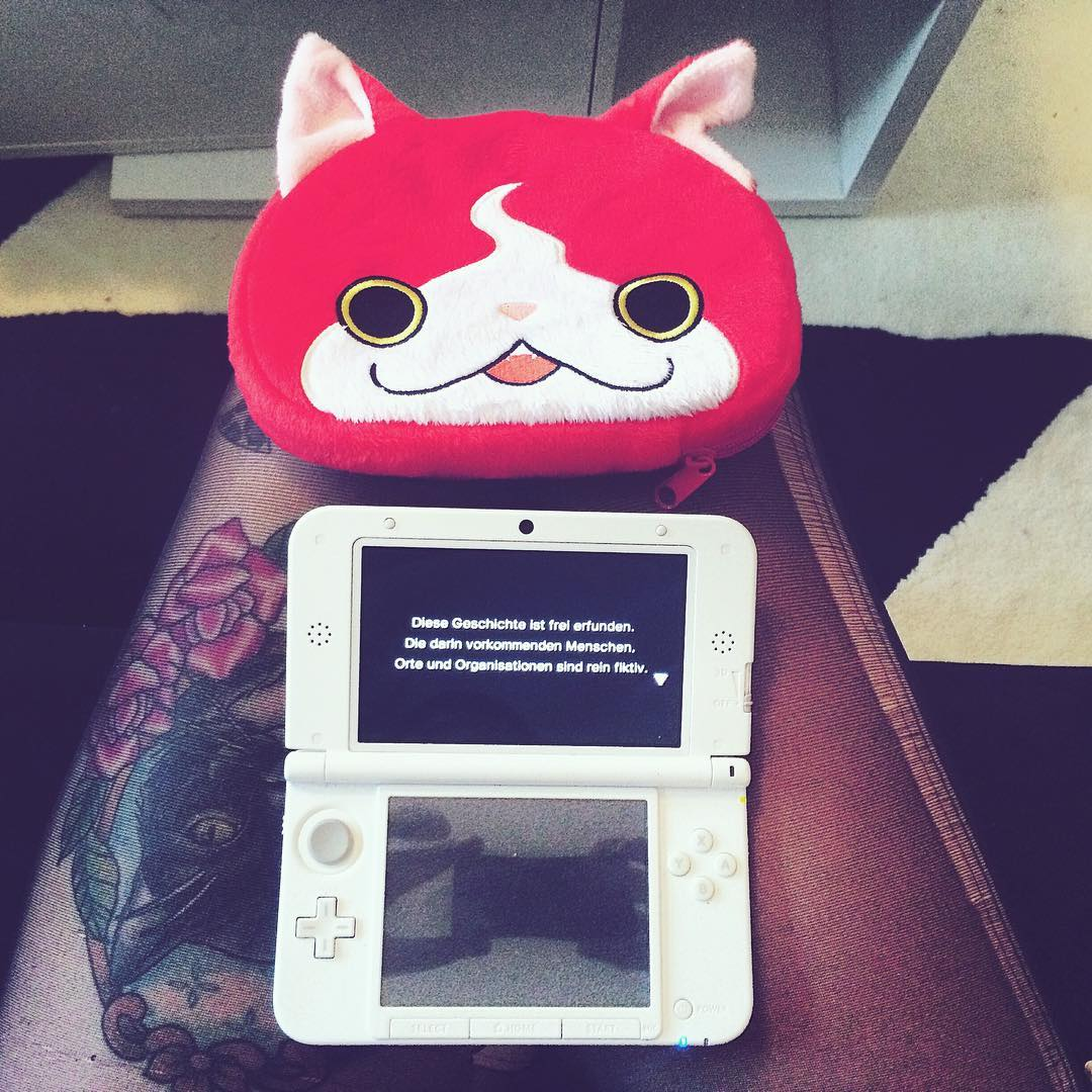 yo-kai watch, nintendo, game, spiel video spiel, tattoo, jobanyan, Katze, nindento 3ds xl, nintendo 3ds, gamergirl
