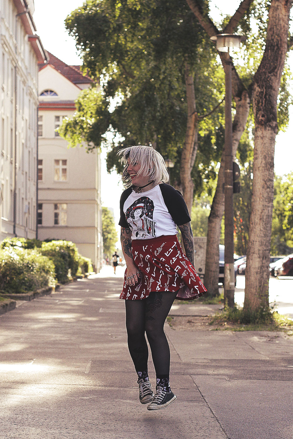 choker, adidas, pharell williams, killstar, harajuku ghost, converse, alexandra cook, alxndra, kitsune, collegestyle, college jacke, stranger things, abisso serigrafia, rock, minirock, sommer, alternative, alternative fashion, alternative girl, alternative mode, altgirl, berlin, berlin fashion, berlin fashion blogger, berlin mode, berlin streetstyle, blogger, fashion blogger, girls with piercings, girls with tattoos, grunge, grunge fashion, grunge mode, mode, Punk, punk fashion, punk mode, punkgirl, punkmädchen, scenehair, snakebites, split hair, splithair, tattoomädchen, tattoomodel